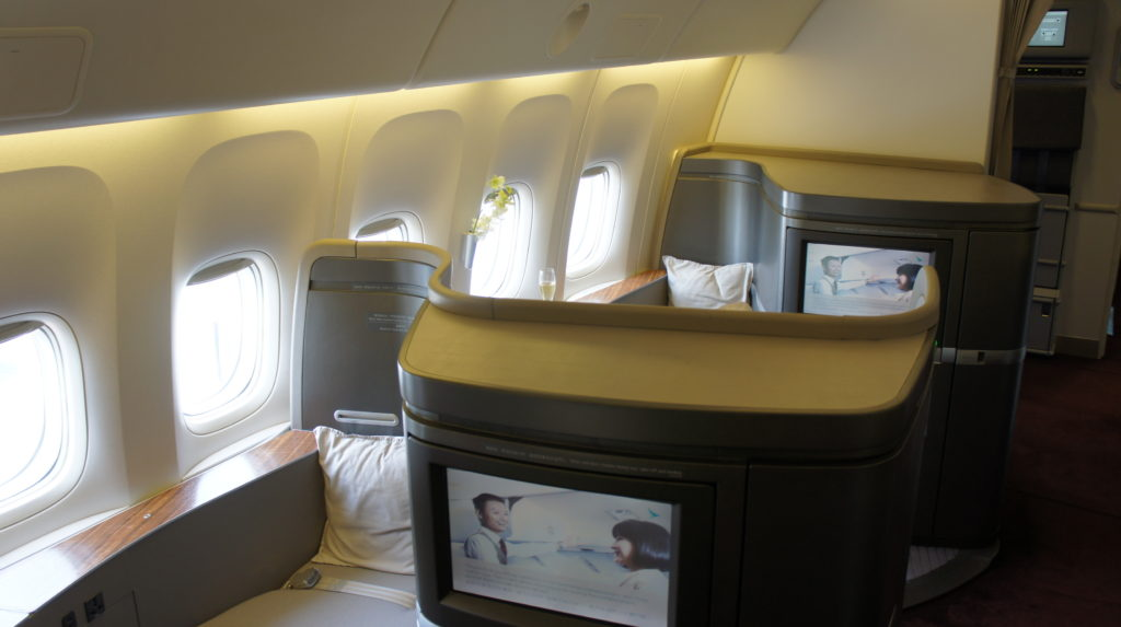 CathayPacific First Class: Zurich - Hong Kong