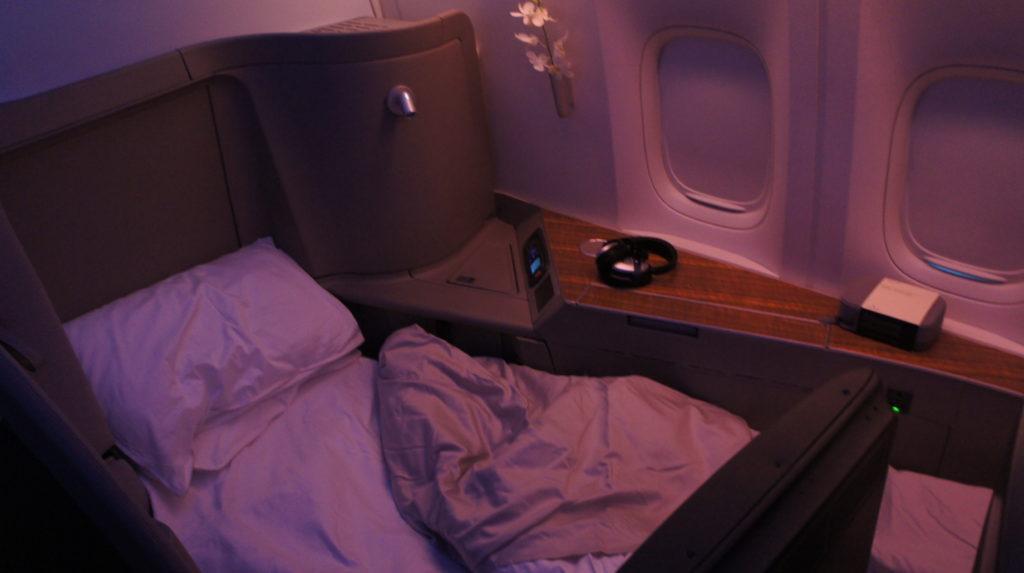 CathayPacific First Class: Zurich HongKong